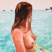 "Mikayla, acrylic on canvas, 20"" x 16"", 2020"