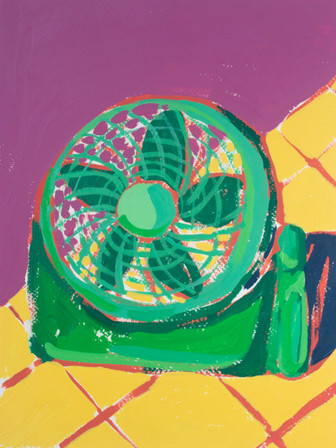 """Only Fans 06, acrylic on paper, 12"""" x 9"""", 2020"""