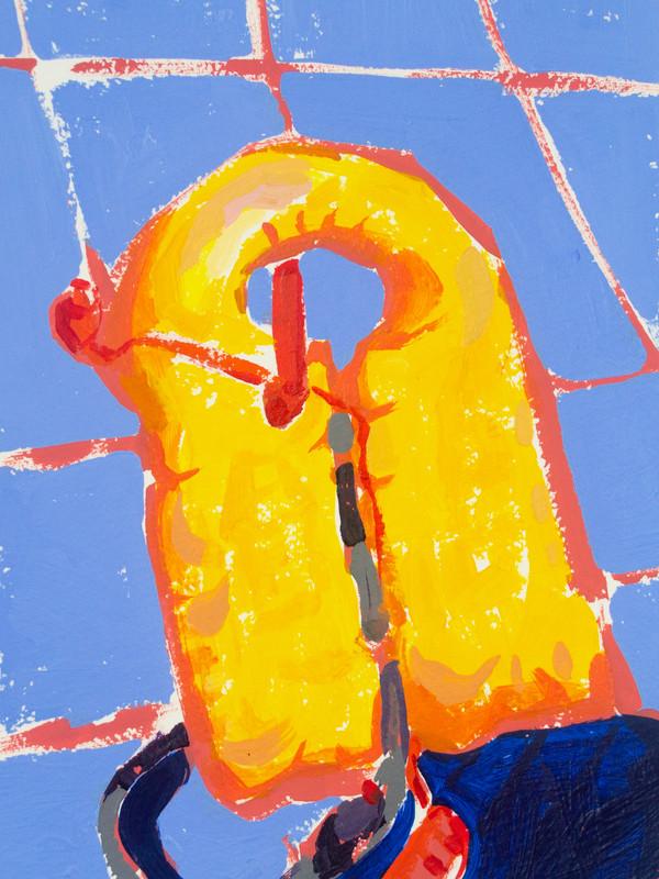 "Lifesavers 02, acrylic on paper, 9"" x 6"", 2020"