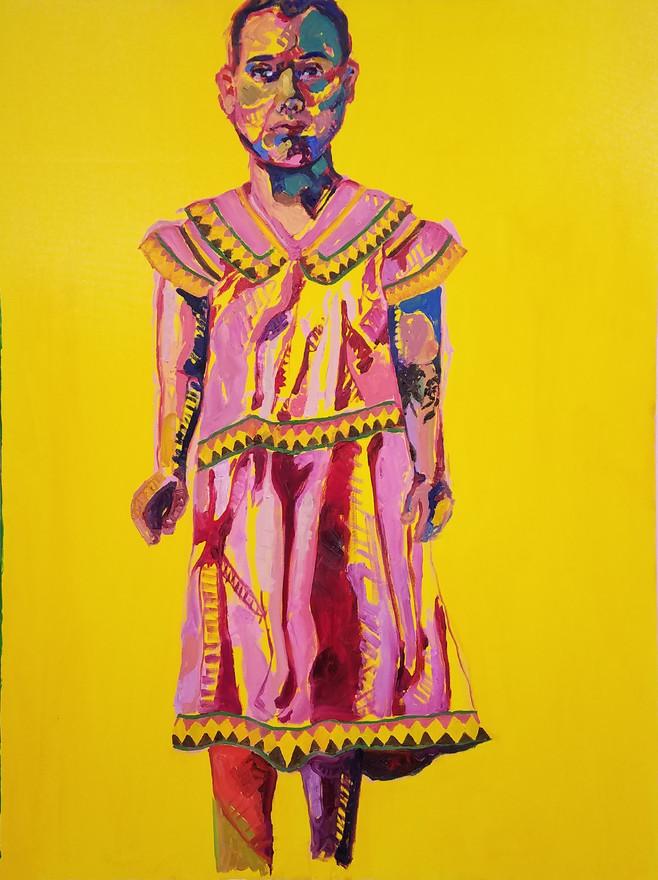 "Embera, oil on canvas, 48"" x 36"", 2019"