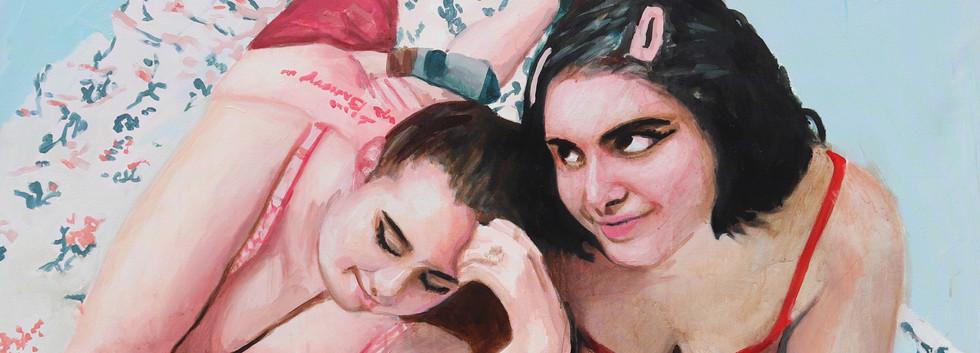 "Girls No. 12, acrylic on canvas, 55"" x 55"", 2020"