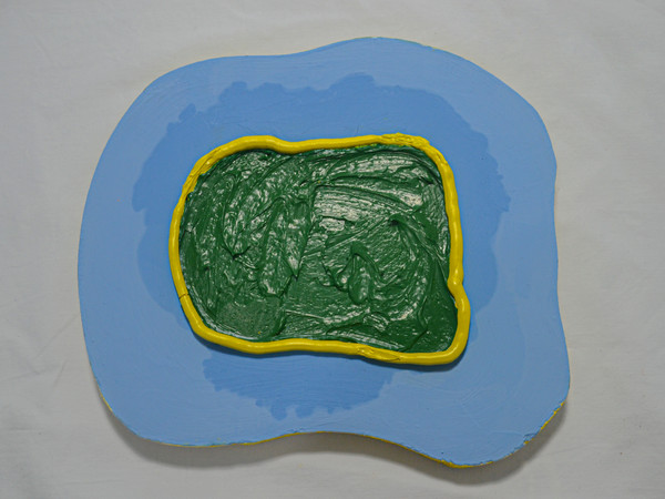 Concentric color studies 01, oil on wood, dimensions variable, 2020