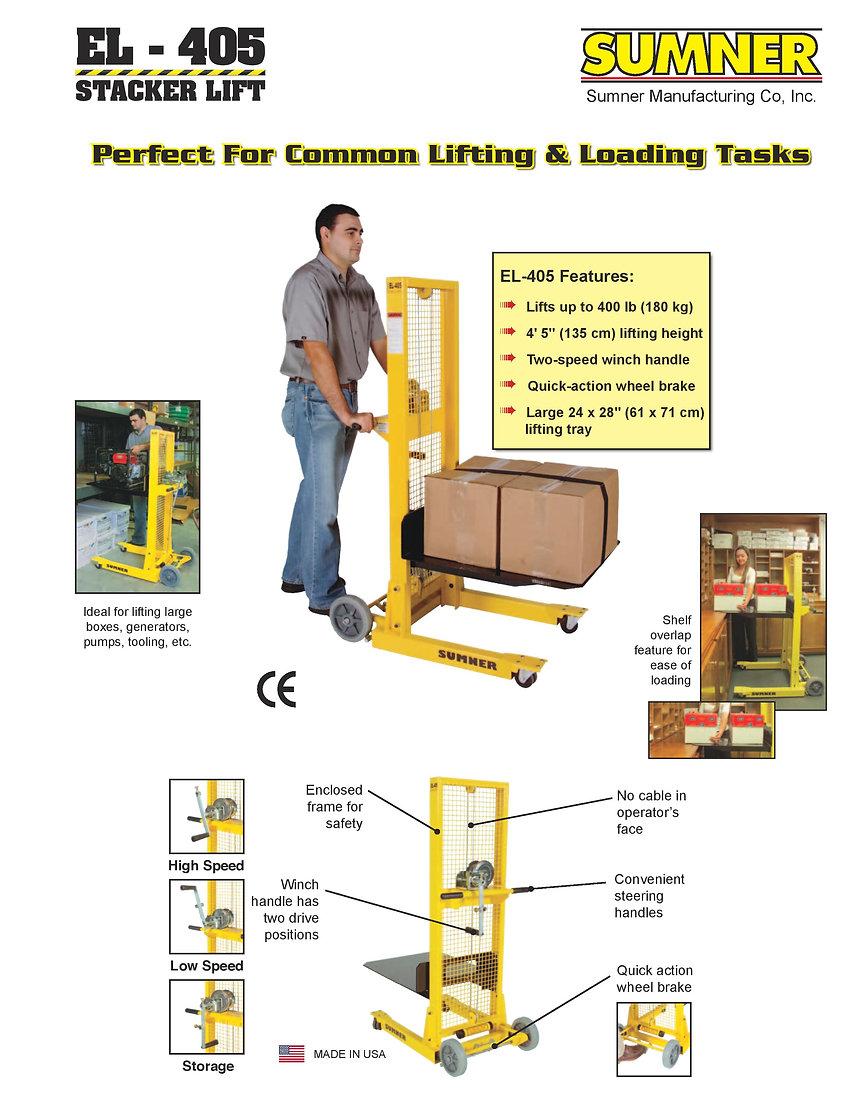 EL 405 Stacker Lift Ezilift Ezi-lift