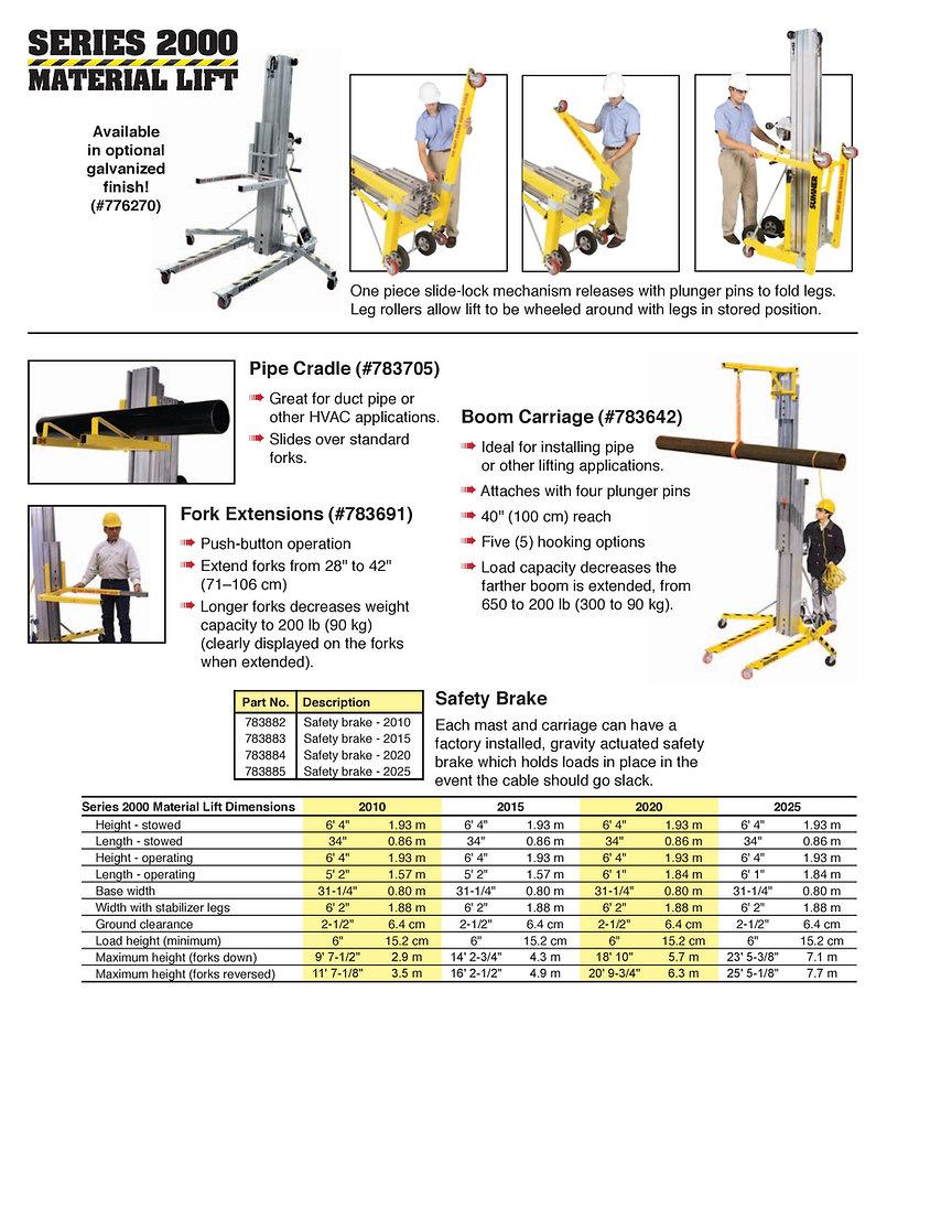 Sumner Series 2000 lift Ezilift Ezi-lift