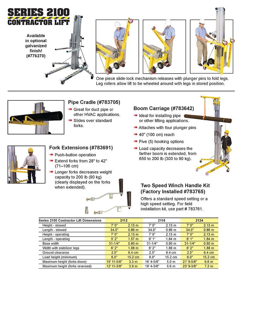 Sumner Series 2100 lift Ezilift Ezi-lift