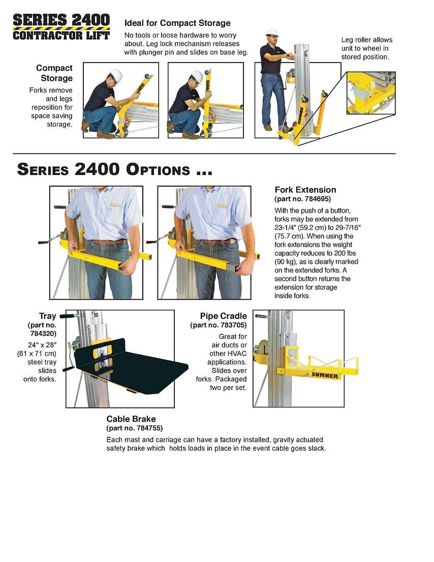 Sumner 2400 Series Contractor Lift Ezilift Ezi-lift