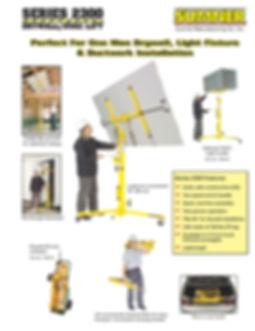 Sumner Series 2000 lift Ezilift Ezi-liftSumner Series 2300 Drywall HVAC lift T-Bar Hoist Tbar hoist lift Ezilift Ezi-lift