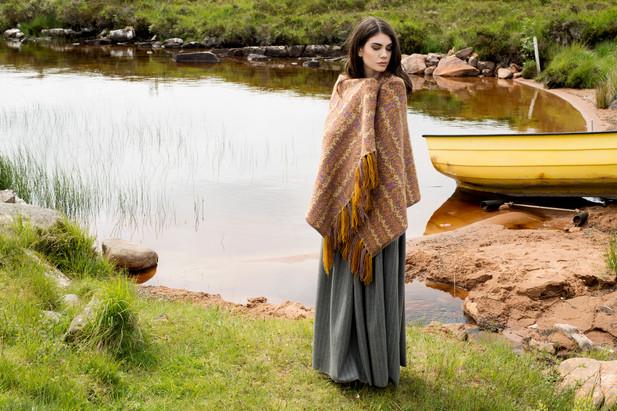 Photographer - Jade Starmore  Designer - Virtual Yarns  MUA & Hair Stylist - Suzanne Christie Model - Lucy Dalgleish