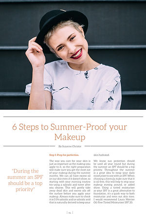 Suzanne Christie Professional Beauty Loft Article Summer Makeup