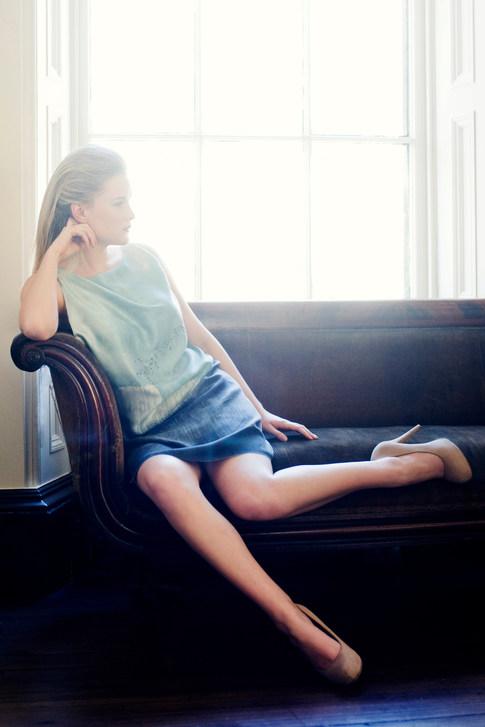 Photographer - Hannah Houston  Designers - Vaila Cameron MUA & Hair Stylist - Suzanne Christie  Model -  Holly Coltart Location - The Glasite Meeting House Edinburgh