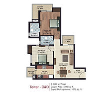Tower C&D 1075 Sq.ft.
