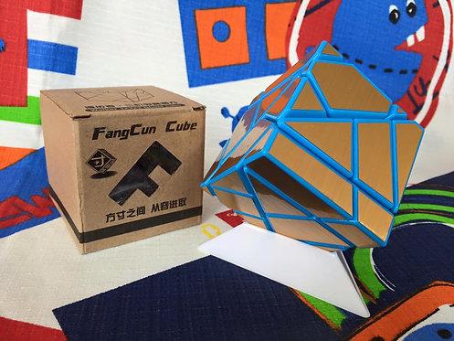 FangCun ghost 3x3 azul stickers dorado