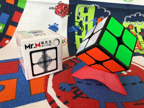2x2 Shengshou Mr M magnético base negra
