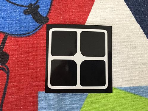 Cara 2x2 vinil negro