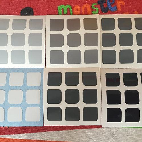 Stickers 3x3 vinil gradiente gris
