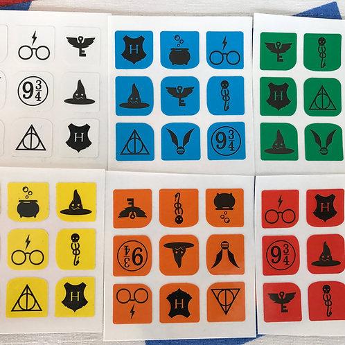 Stickers 3x3 vinil Harry Potter