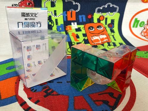 Moyu 3x3 Geo Cube A stickerless transparente