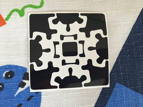Cara Gear Cube vinil negro