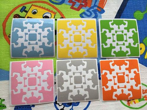 Stickers Gear Cube vinil colores pastel