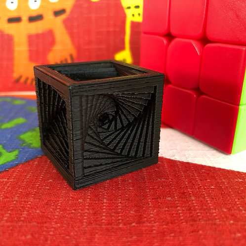 Cubo espiral negro