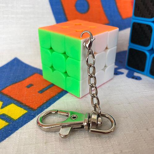 3x3 Mini Llavero 35mm Moyu MoFangJiaoShi stickerless light colors