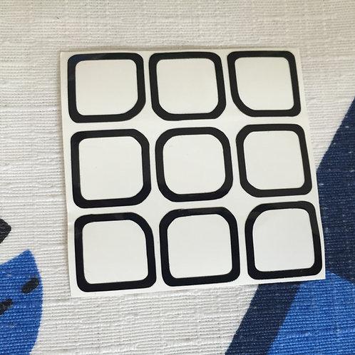 Cara 3x3 outline vinil negra