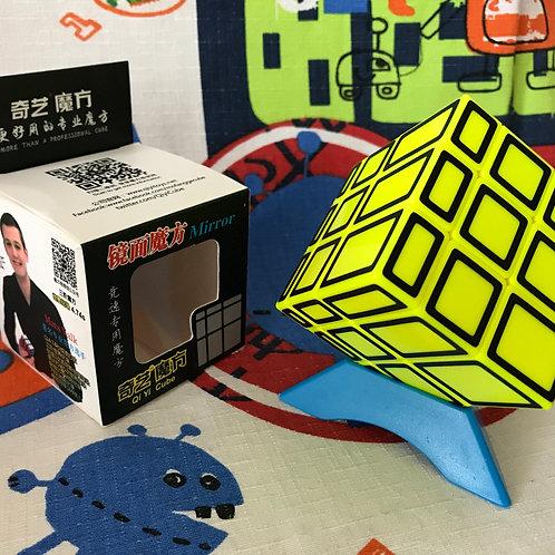 QiYi Mirror 3x3 amarillo outline negro