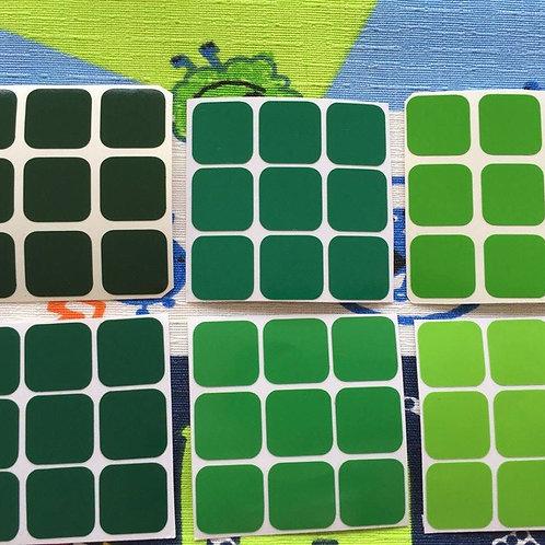 Stickers 3x3 vinil gradiente verde