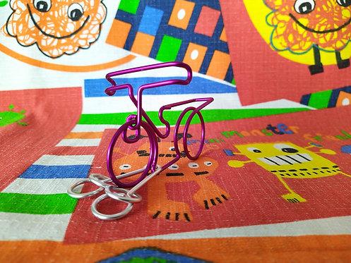 Puzzle de alambre color bicicleta