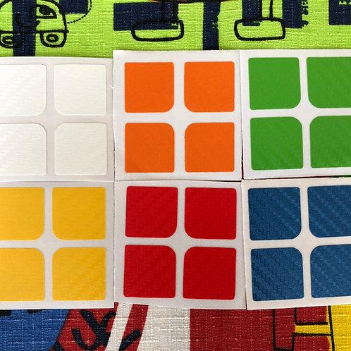 Stickers 2x2 fibra de carbono estándar