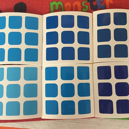 Stickers 3x3 vinil gradiente azul
