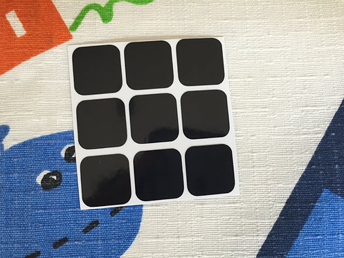 Cara 3x3 estándar vinil negro