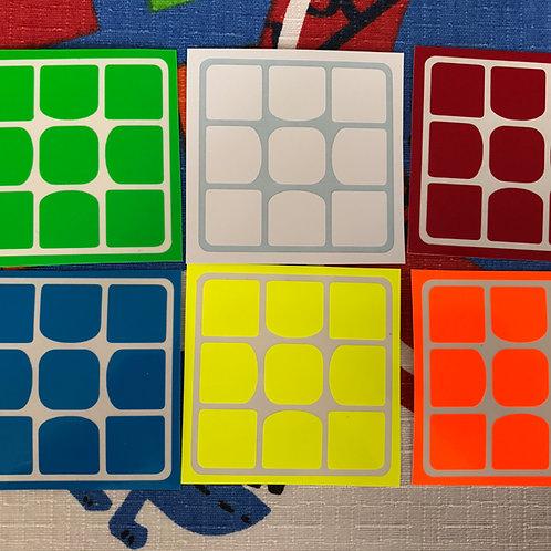 Stickers 3x3 Valk vinil half bright