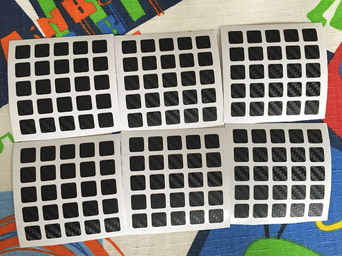 Stickers 5x5 fibra de carbono negro