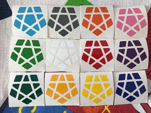 Stickers Megaminx vinil colores estándar