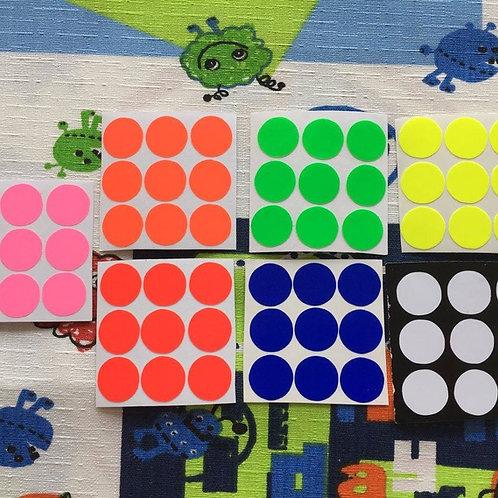 Stickers 3x3 Floppy vinil colores fosforescentes