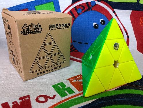 Yuxin Pyraminx Little Magic stickerless colored