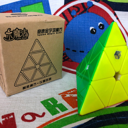 Yuxin Pyraminx Little Magic stickerless colored
