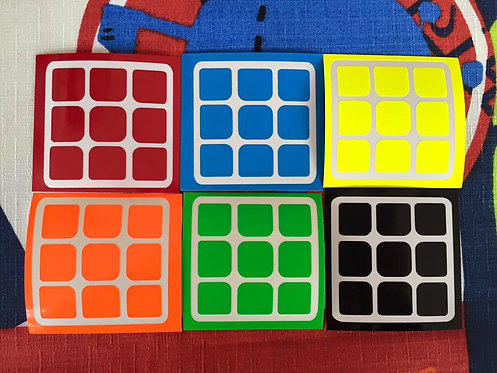 Stickers 3x3 Moyu vinil half bright