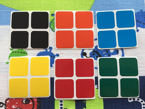 Stickers 2x2 vinil colores estándar