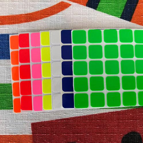 Stickers 5x5 fluorescente