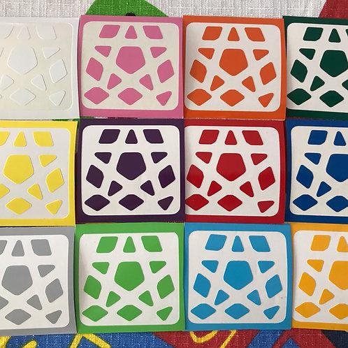 Stickers Megaminx Yuhu vinil colores estándar
