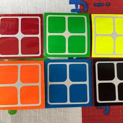Stickers 2x2 vinil half bright