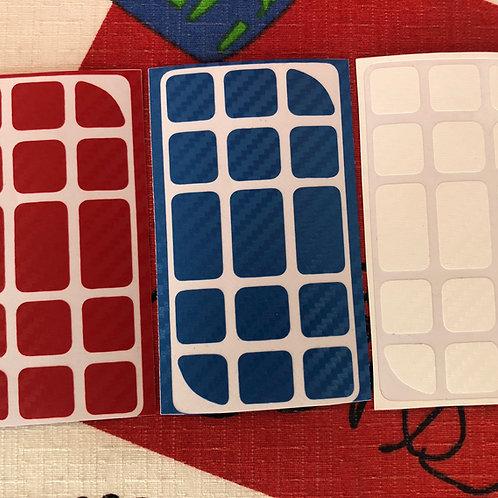 Stickers Penrose 3x3 fibra de carbono estándar