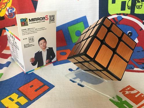 Moyu MoFangJiaoShi Mirror S 3x3 base negra dorado