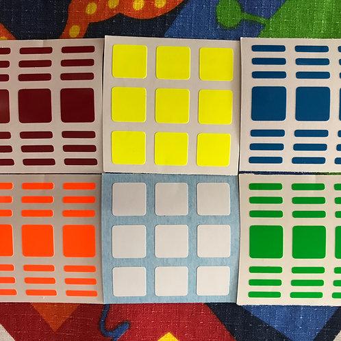 Stickers 3x3x7 vinil half bright