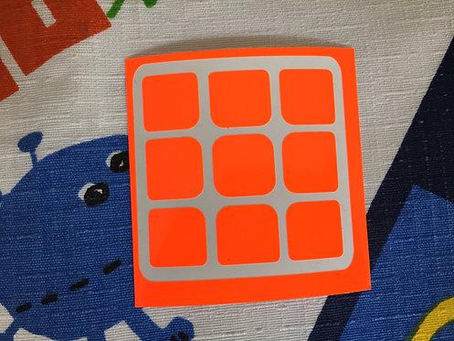 Cara 3x3 Corte Moyu vinil naranja