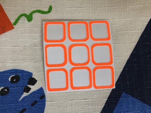 Cara 3x3 outline vinil naranja