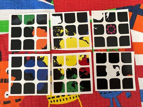 Stickers 3x3 vinil mapa mundi colores