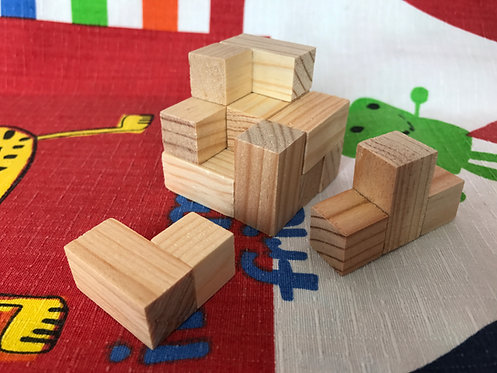 Cubo soma chico de madera